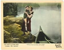 UNDER THE ROUGE (1925) Silent Film Crime Drama Eileen Percy at Lake with Boat