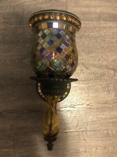 Partylite Global Fusion Sconce Set Mosaic Peglight & Wall Mount
