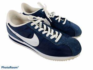 🔥 Nike • Classic Cortez 72 Basic Nylon Sneakers 317249-413 • Men's Blue Sz 9.5