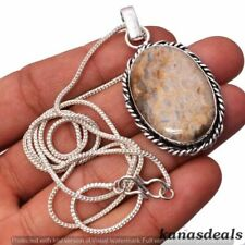 Jasper 925 Sterling Silver Plated Chain Pendant Jewelry CP-1609