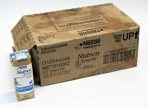 Box of 24 Nestle Nutren Junior 1KCal Nutrition formula Vanilla  Exp 10/21