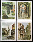 Set of 4 New Orleans Louisiana Prints by Don Davey 1960s