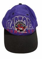 Vintage Toronto Raptors NBA 1995 Purple/Black Embroidered Snapback Cap Hat euc