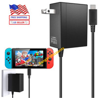 For Nintendo Switch AC Power Supply Adapter Home Wall Travel Charger Cable 2.4A
