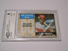 Lou Brock GRADED CARD!! Beckett BCCG 9 Near Mint!! 1968 Topps #382 HOFer -8543