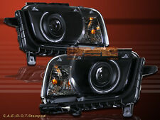 2010-2012 CHEVY CAMARO PROJECTOR HEADLIGHTS BLACK CCFL HALO LH+RH HEADLAMPS