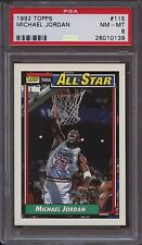 1992 Topps 115 Michael Jordan PSA 8 NM Mint Bulls UNC Tarheels