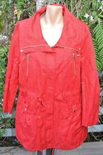 Ruched Detail Anorak CHILLI RED ZIP Jacket Size 14. NEW RRP$69.99 Medium weight.