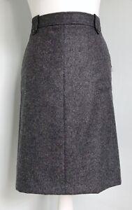 PENDLETON Charcoal Grey Wool A-Line Skirt UK 12 NWT Pockets Lined Career Work