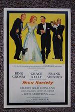 High Society Lobby Card Movie Poster Bing Crosby Frank Sinatra