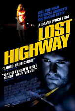 LOST HIGHWAY Movie POSTER 27x40 B Bill Pullman Patricia Arquette Balthazar Getty