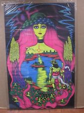 Vintage Black Light Poster 1971 Virgin Waters  Inv#G856
