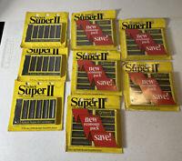 Vintage Schick Super II 2 Shaving Cartridges NOS 1973 Fits Twin Blade Razors LOT