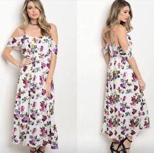 New Gorgeous Off The Shoulder Foil Print Dress Sz 12