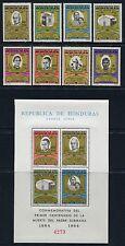 HONDURAS 1965 Religion Priester 633-40 + Block 7 ** MNH
