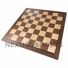 Krig Chess LARGE 15 Inch BOARD ONLY Maple Walnut Inlaid Wood Flat Game Set, New