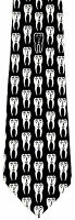 Happy Teeth Men's Necktie Dentist Doctor Tooth Dental Cavity Fun Black Neck Tie