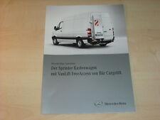 47849) Mercedes Sprinter Bär Cargolift Prospekt 09/2010