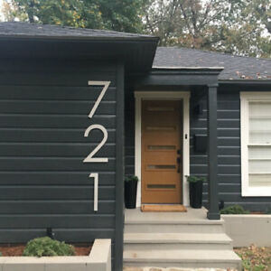 16 inch Modern House Address Numbers Letters, color choices