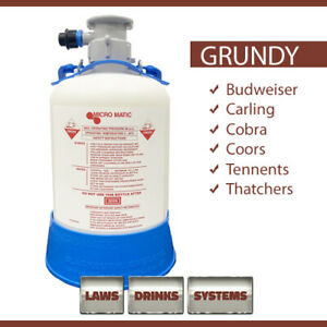 GRUNDY (G TYPE) Beer Line Cleaning Bottle. NEXT WORKING DAY DELIVERY (UK)