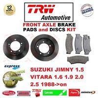 Pour Suzuki Jimny 1.5 Vitara 1.6 1.9 2.0 2.5 1988- > avant Frein Patins +