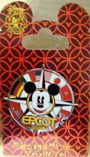 Disney Park Collection-Epcot Flags Mickey Mouse Compass Pin- New on Card #119302