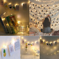 Photo Clip LED String With Clips For Hanging Picture Party Wedding Decor 10M