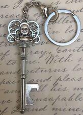 New Silver Buddha Key Bottle Opener Keychain, Festivals, Bars, Gift, US Seller