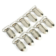 10pcs Metal 1.5 Inches Clips Insert Baby Pacifier Dummy Holders Suspender Hook
