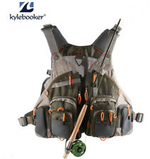 Fly Fishing Vest Outdoor Mesh General Size Adjustable Mutil-Pockets Jacket