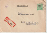 SBZ, Mi. 197 EF, Not-R-Leipzig, 8.10.48