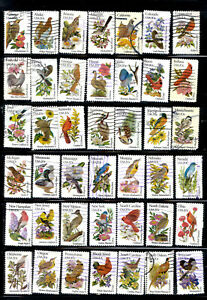 STATE BIRDS FLOWERS 50 Stamps Set #1953-2002 20-Cent US 1982 Used