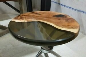 """12"""" Epoxy Resin Table Top Corner Table / Side Table Top Home Decor"""