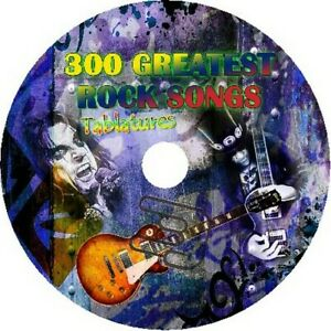 300 ROCK SONGS BASS & GUITAR TAB CD TABLATURE GREATEST HITS BEST OF MUSIC