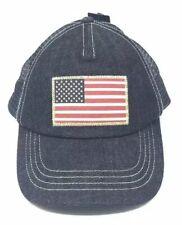 Ralph Lauren Polo US Flag Denim Trucker Hat Cap Blue One Size NEW