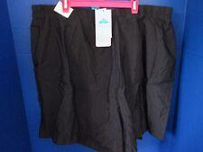 SwimsuitsforAll~Black AQUABELLE SWIM SHORTS~Chlorine Resistant~Women's 26~NWT