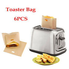 6pcs Toast Pocket Bag Non-Stick Reusable Toaster Sandwich Baking Pouch Kitchen