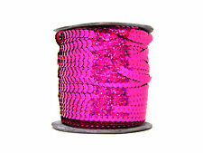 Sequin Row Pink Holographic (100m Reel) | Pink Strung Sequins
