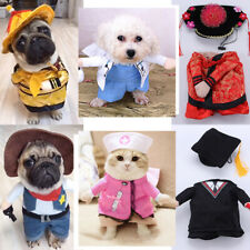 2019 Christmas Halloween Puppy Dog Cat Clothes Santa Coat Pet Cosplay Costumes