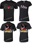 SOUL MATE Mickey & Minnie LOVE Couple matching funny cute T-Shirts S-4XL