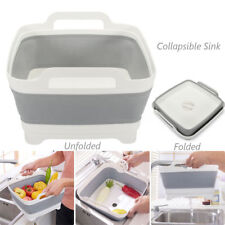 Collapsible Silicone Sink Wash Tub for Caravan Camping Kitchen Strainer Basket