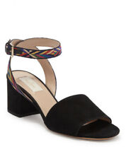 Valentino Woven Ankle Strap Sandal Suede Size 10.5