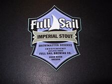 FULL SAIL Imperial Stout oregon STICKER label decal craft beer brewery