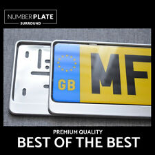 2 x PREMIUM CHROME STAINLESS STEEL NUMBER PLATE SURROUND HOLDER FOR PEUGEOT