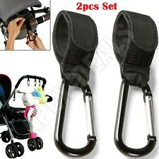 2pcs Universal Buggy Mummy Clips Pram Pushchair Shopping Bag Hook Carabiner Clip