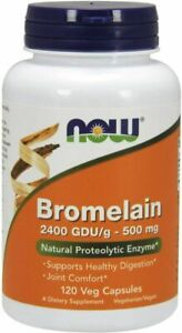 NOW Supplements, Bromelain (Natural Proteolytic Enzyme) 120 Count (Pack of 1)