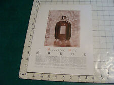 Original 1940's BRECK BEAUTIFUL HAIR  #2 single sided advertising info for store
