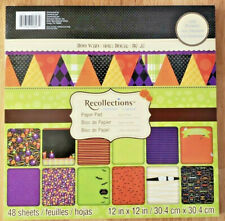 Recollections BOO WHO Halloween Scrapbook Cardstock Paper Pad ~ 12x12 ~ 48 Shts