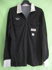 Maillot Arbitre Ligue Porté Adidas Football vintage Noir Trefoil 70'S - M