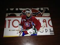 Zachary Fucale SIGNED 4x6 MONTREAL CANADIENS #9